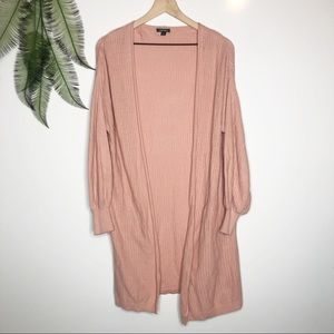 Wild Fable Open Front Duster Cardigan Pale Pink S